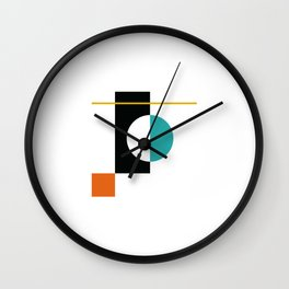 DEK 01// Art Deco & Mid Century Minimalist Illustration Wall Clock