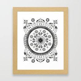 The Plankton Tow Diatom Style - White Framed Art Print