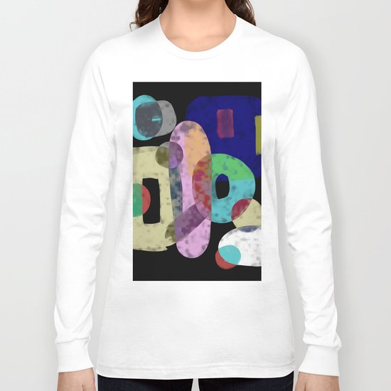 Abstract Pastel Art - Eclectic, pastel, abstract artwork Long Sleeve T-shirt
