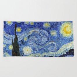 Starry Night by Vincent Van Gogh Beach Towel
