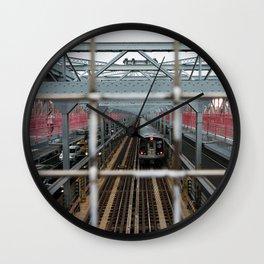 J Train - Williamsburg Bridge Wall Clock
