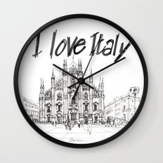 Duomo di Milano - schizzo Wall Clock