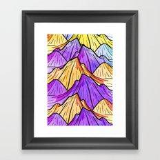 The Mountain Range Framed Art Print