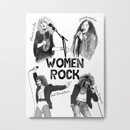 Women Rock! Metal Print