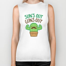 Sun's Out Guns Out Macho Cactus Biker Tank