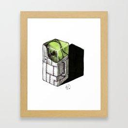 alien in a box Framed Art Print