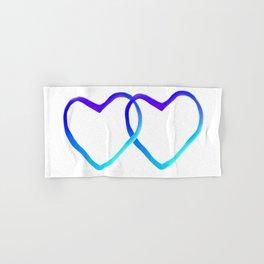 Blue Heart Hand & Bath Towel