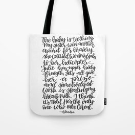 I think it's Todd: Varied Line Tote Bag