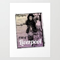 liverpool Art Prints featuring LIVERPOOL by TOO MANY GRAPHIX