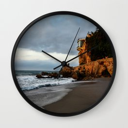 The Lookout over the Beach Wall Clock