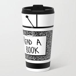 READ A BOOK Metal Travel Mug