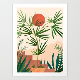 Weekend in Mojave / Desert Landscape Art Print