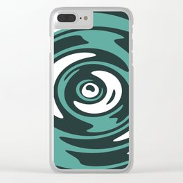 Abstract Green Whirlpool Clear iPhone Case