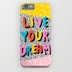 Ya Heard - 1980's throwback retro pattern memphis-style hipster bright colorful pop art minimal rad iPhone 6 Slim Case