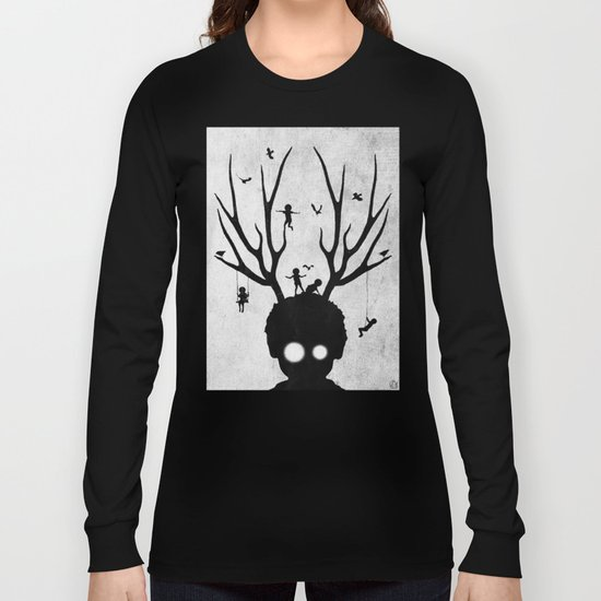 dear imaginary friends (black and white) Long Sleeve T-shirt