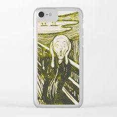 The Scream's Haze (yellow) Clear iPhone Case