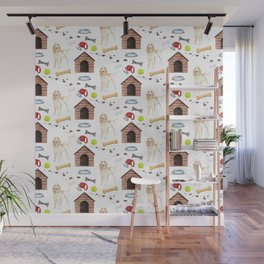 Spinone Italiano Dog Half Drop Repeat Pattern Wall Mural