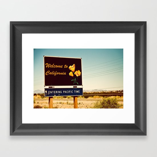 Welcome to CA Framed Art Print