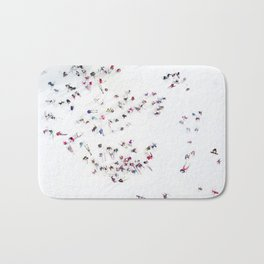Aerial view of skiers Bath Mat