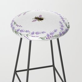 Lavender Bee Bar Stool