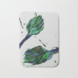 Artichoke #1, Artichoke #2 ad the green splashes Bath Mat