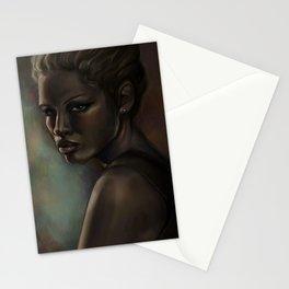 Digital art portrait painting of women. portrait painting. painting shipped and framed. portrait of women  Stationery Cards