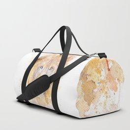 "Watercolor Painting of Picture ""African Lion"" Duffle Bag"