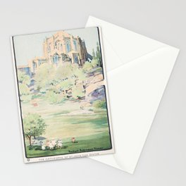 The Cathedral of St. John the Divine from Morningside Park Lovers New York postcard in high resoluti Stationery Cards