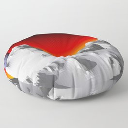 Mountains POV Ray Tracing Floor Pillow