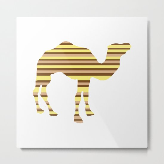 Camel Stripes Metal Print
