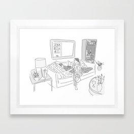 Mae & Miles Framed Art Print