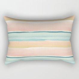 PAINTED WATERCOLOR STRIPE PATTERN Rectangular Pillow