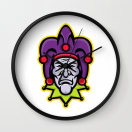 Jester Head Mascot Wall Clock