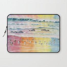 Sandpipers on Beach Laptop Sleeve