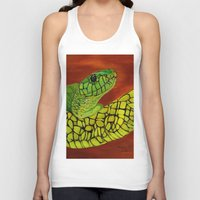 snake Tank Tops featuring Snake by maggs326