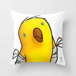 Broken Winged Bird Throw Pillow