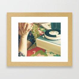 For The Love of Vinyl  Framed Art Print