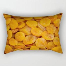 Dried cut apricot fruits Rectangular Pillow