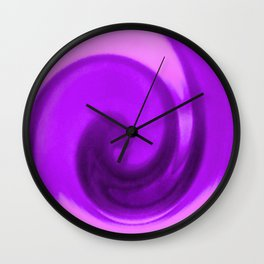 Purple tie dye Wall Clock