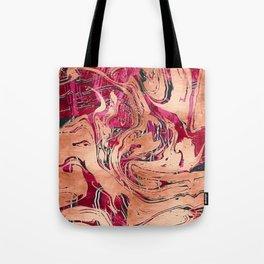 RoseGold Marble Tote Bag