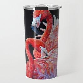 Flamingo Pair Travel Mug