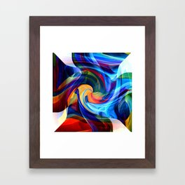 This Kiss Digital Abstract Art By Annie Zeno Framed Art Print