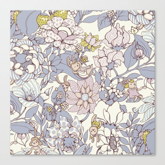 Garden party - jasmine tea version Canvas Print