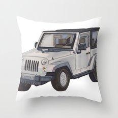 Jeep Wrangler 2012 Throw Pillow