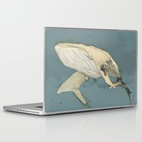 whales Laptop & iPad Skins featuring Whales by Mikael Biström