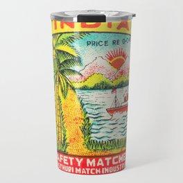 Old Matchbox label #7 Travel Mug