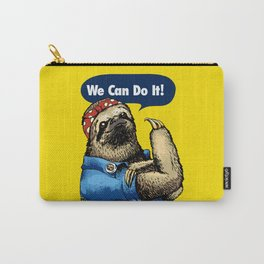 We Can Do It Sloth Carry-All Pouch