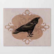 Crow Flourish Canvas Print