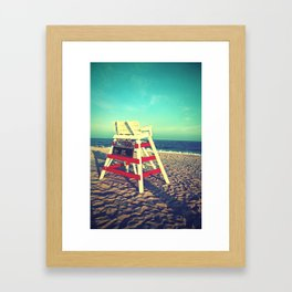 Cape May Lifeguard Stand Framed Art Print