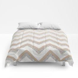 NUDE CHEVRON Comforters